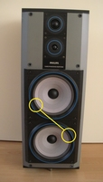 Foamrand voor Philips FB565 (Digital World Series) woofer