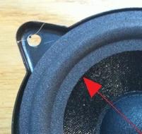 Foamrand (4 inch) voor Philips middentoner uit FB820