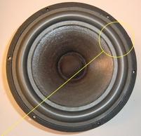 Foam ring (8 inch) for Scan-Speak 21W8552 / 21W-8552 woofer