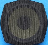 Zwart luidsprekerdoek, grof geweven