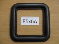 Square foam surround, 5 x 5 Inch, for 9,7 cm speakercone