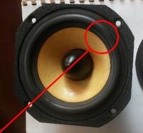 Rubber rand voor Focal 5k413-S woofer (5 inch)