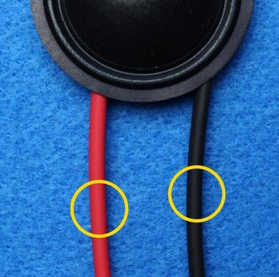 Krimpkous, rood en zwart, 2 x 10 cm