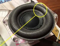 Foam ring for JBL Go + Play Micro woofer