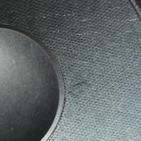 Cerwin Vega CLSC 6 woofer, stain on speaker cone