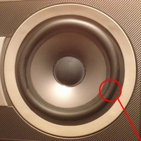 Rubber ring for B&W DM600 (S1) woofer