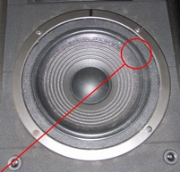 Schaumstoff Sicke für JBL LX22 Tieftoner
