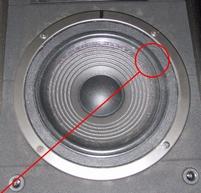 Foam ring for JBL LX22 woofer
