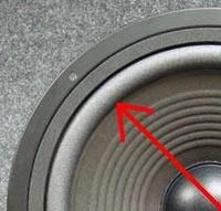 Foam ring for JBL LX55 woofer