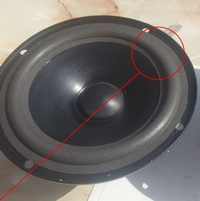 Foamrand (6 inch) voor Infinity Reference MKII woofer