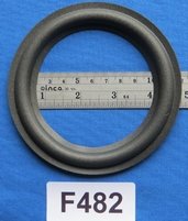 Foam ring, 4,75 inch, for a unit with a cone size of 9 cm
