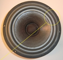 Foamrand voor Scan-Speak 21W8552 / 21W/8552 woofer (8 inch)