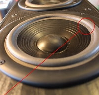 Foamrand (6 inch) voor Infinity Reference 81 woofer