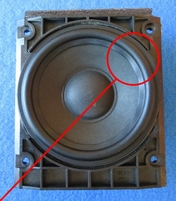Rubber ring for Bang & Olufsen 8480239 unit