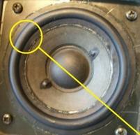 Een set rubberranden voor Bang & Olufsen Beovox C75 - 4 st