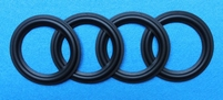 Een set rubberranden voor Bang & Olufsen Beovox CX100 - 4 st