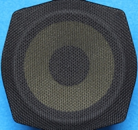 Speaker cloth - black (coarse weave)