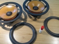 Foam ring (8 inch) for Scan-Speak 21W8554 / 21W-8554 woofer