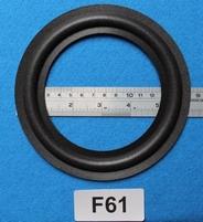 Foamrand van 6  inch, voor een conusmaat van 11,5 cm (F61)
