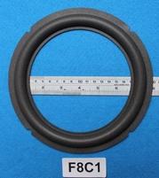 Foamrand van 8 inch, voor een conusmaat van 15 cm (F8C1)