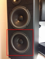Foam ring for <b>the lower</b> JBL TLX20 woofer