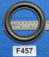 Foam ring, 4,5 inch, for a unit with a cone size of 8,3 cm
