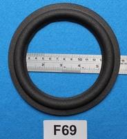 Foamrand van 6  inch, voor een conusmaat van 11,6 cm (F69)