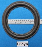 Foamrand van 8 inch, voor een conusmaat van 15,2 cm (F8dyn)