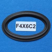 Oval foam surround, 6 x 4 Inch, for 12,2 / 6,5 speaker cone