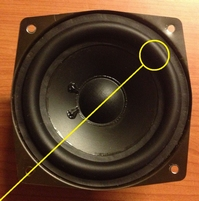 Rubber ring for Bang & Olufsen Beolab Penta woofer