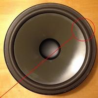 Foamrand (10 inch) voor Infinity EL30 woofer (10 inch)