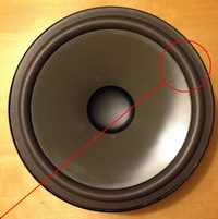 Foamrand (10 inch) voor Infinity HT240JL12 woofer