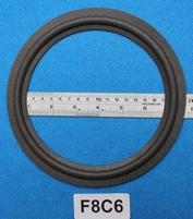Foamrand van 8 inch, voor een conusmaat van 15,8 cm (F8C6)