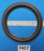 Foam ring, 8 inch, for a unit with a cone size of 15,6 cm