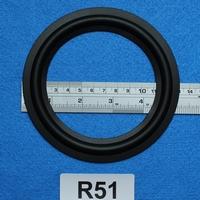 Rubber rand van 5 inch, voor een conusmaat van 9,8 cm