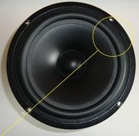 Rubber ring for Vifa P17WJ woofer
