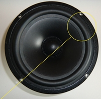 Rubber ring for Vifa P17WJ woofer