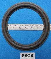 Foamrand van 8 inch, voor een conusmaat van 16 cm (F8C8)