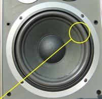 Foam surround (10 inch) for Jamo J-122 woofer