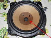 Dustcap for RFT Fieldcoil woofer