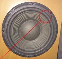Foam ring for JBL 9746119 woofer