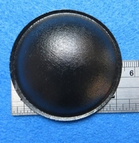 Stofkap van papier, doorsnede 54 mm, zwart glimmend.