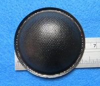 Stofkap van papier, doorsnede 60 mm, zwart glimmend.