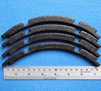Gasket for 10 inch woofer, 4 pieces make one gasket