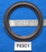 Foamrand van 6,25  inch, voor een conusmaat van 12,4 cm