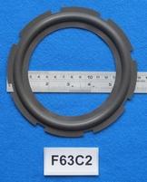 Foamrand van 6,25  inch, voor een conusmaat van 12,1 cm