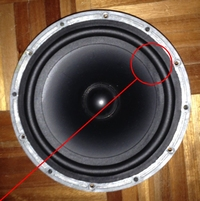 Rubber rand voor B&W Matrix 802 woofer (7 inch)