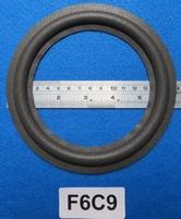 Foamrand van 6  inch, voor een conusmaat van 12 cm (F6C9)