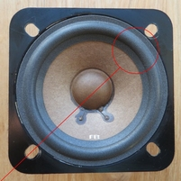 Foam ring (3 inch) for Pioneer 77-701F tweeter