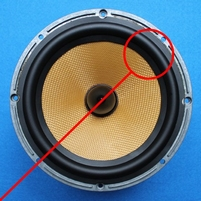 Rubber rand voor B&W NHTM2 woofer (6,5 inch)